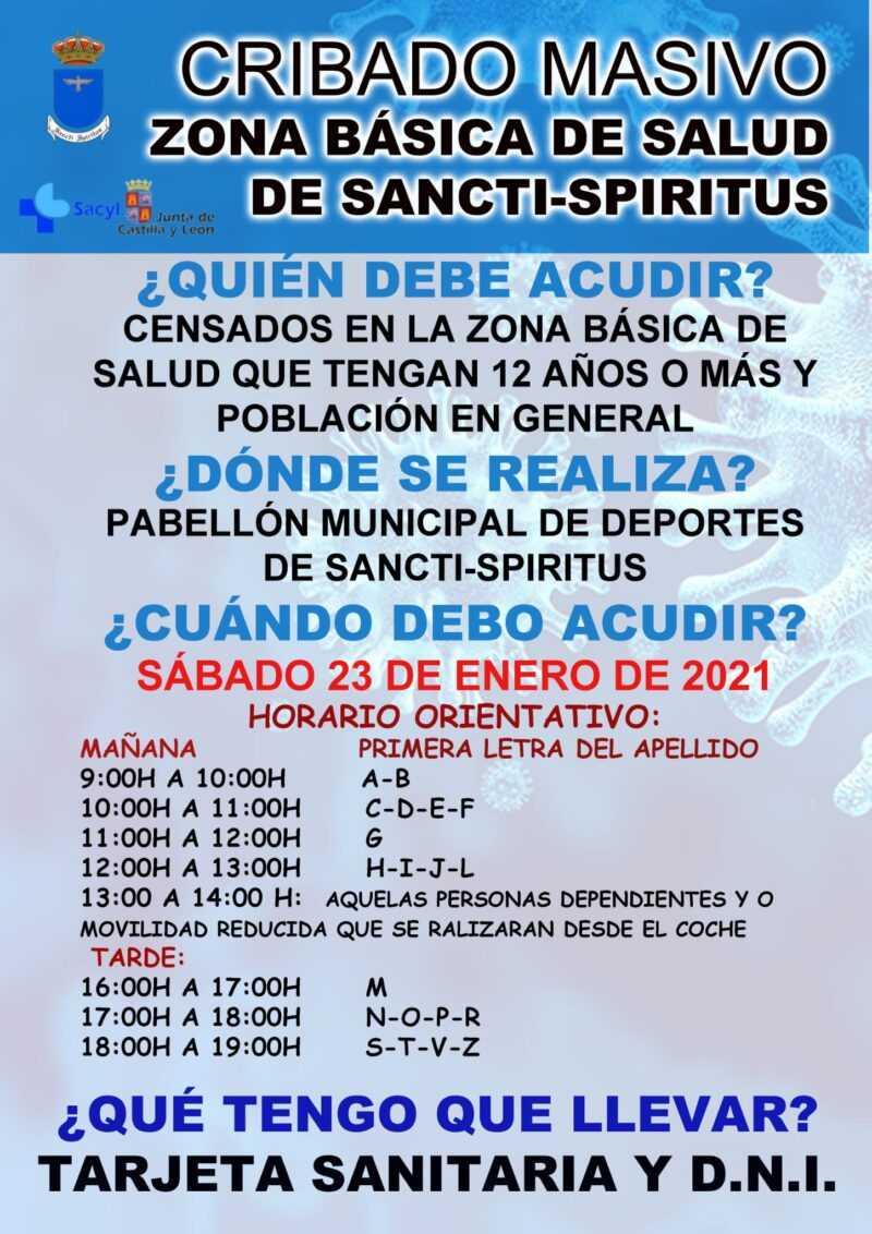 CRIBADO MASIVO – Zona Básica de Sancti-Spíritus