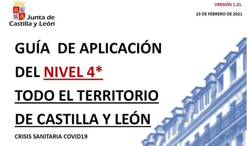 Guía de Aplicación del nivel 4 en Castilla y León