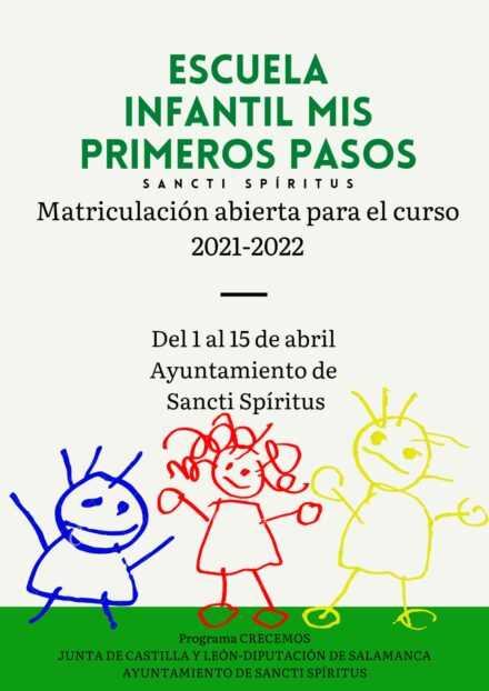 MATRICULACIÓN ESCUELA INFANTIL CURSO 2021-2022