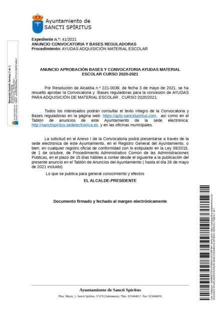AYUDAS LIBROS DE TEXTO Y MATERIAL ESCOLAR