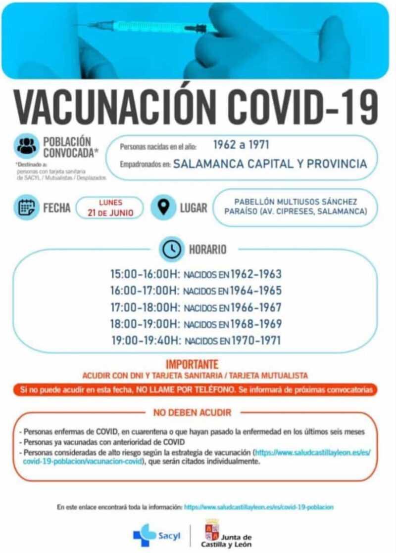 Repesca vacunación COVID nacidos de 1962-1971
